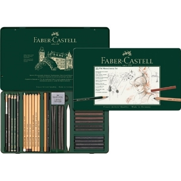 Picture of Faber Castell Pitt Monochrome Set of 33