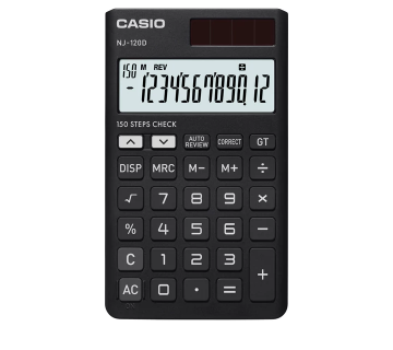 Picture of CASIO CHECK & CORRECT NJ-120D-BK Calculator