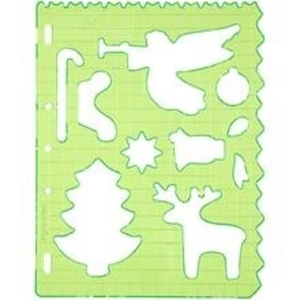 Picture of 1362 Fiskars Plastic Shape Template Christmas