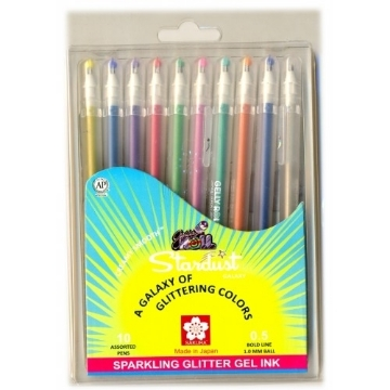 Picture of SAKURA GELLY ROLL STARDUST PENS SET OF 10