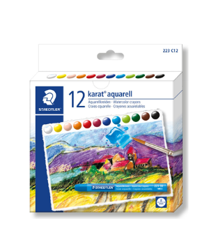 Picture of Staedtler Karat Aquarell Water Colour Crayons Set of 12 - 8mm