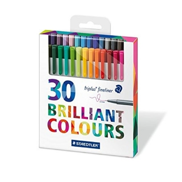Picture of STAEDTLER Triplus Fineliner Pen Pack of 30 (0.3mm)