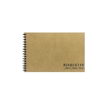 Picture of Hindustan Black Sketch Book A4 - 50 Sheets SPIRAL BOUND