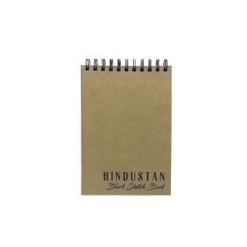 Picture of Hindustan Black Sketch Book A5 - 50 Sheets SPIRAL BOUND