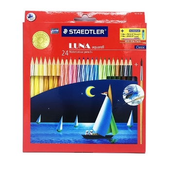 Picture of STAEDTLER Luna Watercolour Pencils Pack of 24 (For Students)