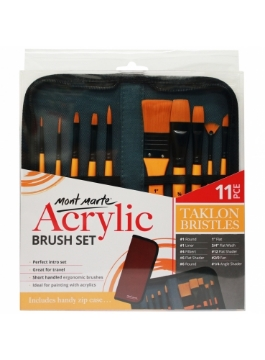 Picture of Mont Marte Acrylic Brush Set of 10