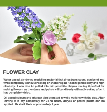 Picture of Nara Flower Clay 250 grams (White Colour)