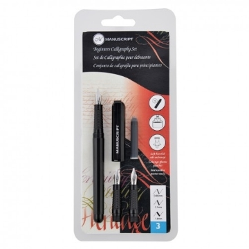 Picture of Manuscript Beginner's Calligraphy set (3 nibs - Fine / Medium / 2B)