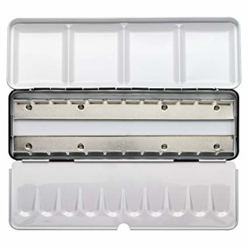 Picture of Empty Metal Box for Storing Watercolour Cakes 24