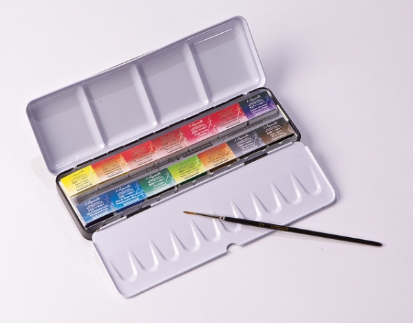Picture of Sennelier L'Aquarelle Extra Fine Watercolour Set of 14 Full Pan Cakes