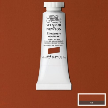 Picture of Winsor & newton  Designers Gouache 14ml - SR1 - Burnt Sienna (074)