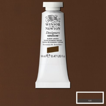 Picture of Winsor & newton  Designers Gouache 14ml - SR1 - Burnt Umber (076)