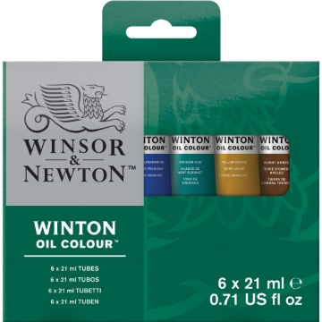 Picture of Winsor & Newton Winton Oil Colour Tube Set 6x21ml
