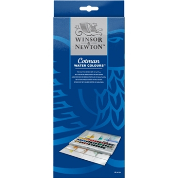 Picture of Winsor & Newton Cotman Watercolour Half Pan STUDIO SET Of 45 Half Pans