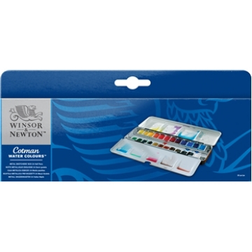 Picture of Winsor & Newton Cotman Watercolour Metal Sketch Box Set of 24