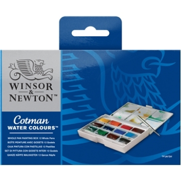 Picture of Winsor & Newton Cotman Watercolour Watercolour WHOLE PAN Painting BOX set
