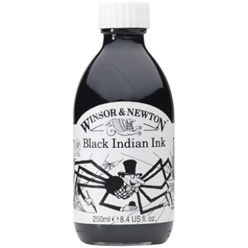 Picture of Winsor & Newton Black India Ink 250ml
