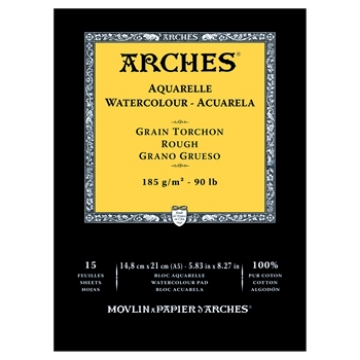 Picture of Arches Watercolor Paper Pad Rough 185gsm 14.8x21cm 6x8inch