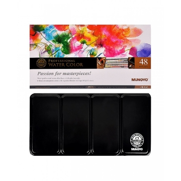 Picture of Mungyo Professional Water Color half Pan Set 48 Colours