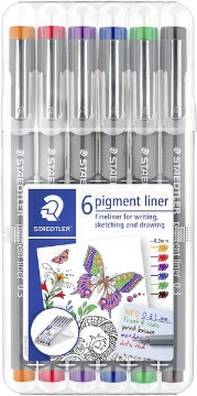Picture of Staedtler Pigment Liner Assorted Set of 6 (0.3mm)
