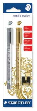 Picture of Staedtler Metallic Marker Set of 2 (Gold/Silver)