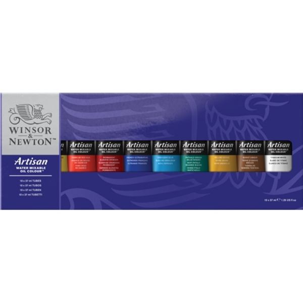 Picture of Winsor & Newton Artisan Water-mixable Oil Colour Studio Set of 10x37ml