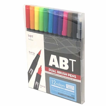 Picture of Tombow Dual Brush Pen Basic set of 12