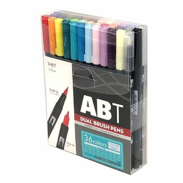 Picture of Tombow Dual Brush Pen Basic set of 36