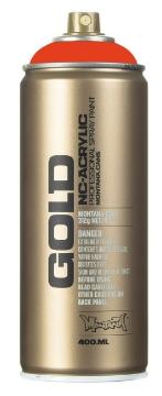 Picture of Montana  Gold Spray Paint 400ml Red Orange - 2090