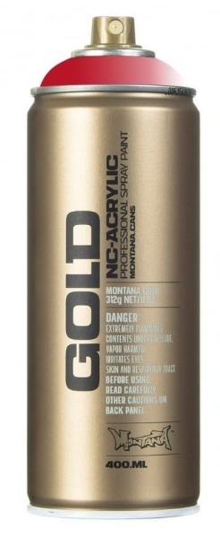 Picture of Montana  Gold Spray Paint 400ml Transparent Ketchup - T3040