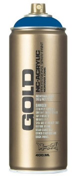 Picture of Montana  Gold Spray Paint 400ml Signal Blue - 5075