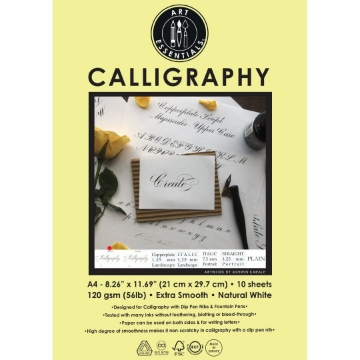Picture of Art Essentials Calligraphy 9/6/9 Paper A4 120gsm Pack of 10 Sheets