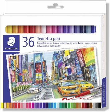 Picture of Staedtler Twin Tip Pen Set of 36