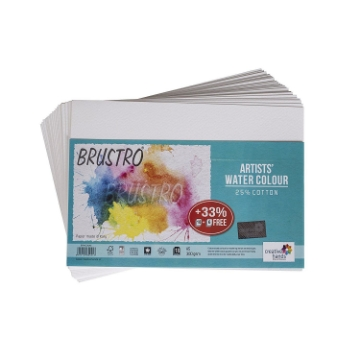 Picture of Brustro Artists' Watercolour Paper CP 300 GSM A5 - 25% cotton (18+6 Sheets)