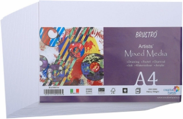 Picture of Brustro Artists Mixed Media Paper 250gsm A4 (36 Sheets)