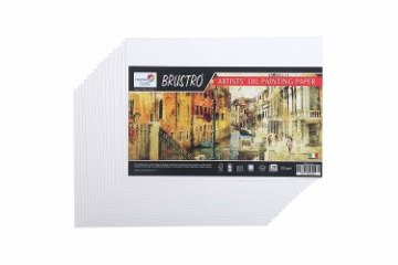 Picture of Brustro Artists' Oil Painting Paper 300gsm A4 (8 Sheets)