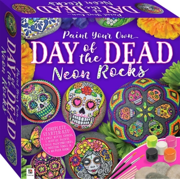 Picture of Hinkler Paint Your Own Day of the Dead Neon Rocks