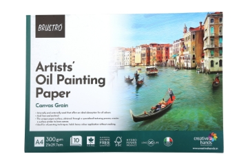 Picture of Brustro Artists' Oil Painting Glued Pad 300gsm A4 (10 Sheets)