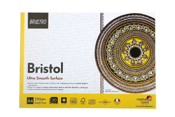 Picture of Brustro Bristol Ultra Smooth Surface Pad 250gsm A4 (20 Sheets)