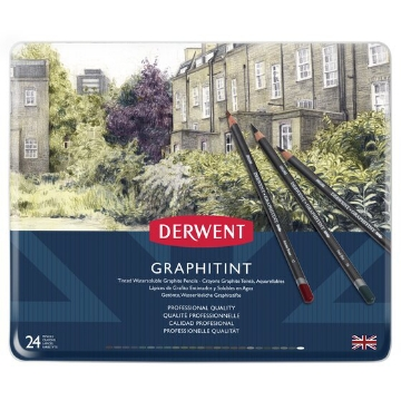Picture of Derwent Graphitint Pencils Tin of 24