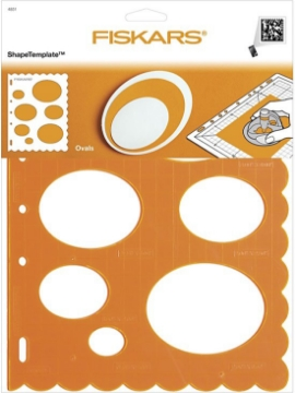 Picture of 4851 Fiskars Plastic Shape Template Ovals