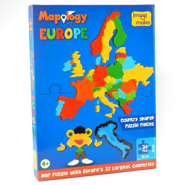 Picture of Imagi Make Mapology Europe Country Shaped Puzzle Kit