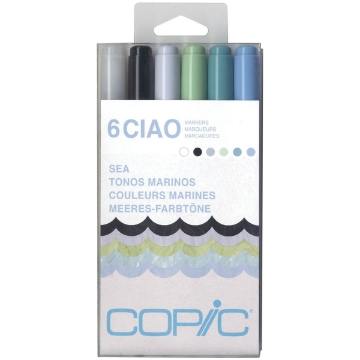 Picture of Copic Sketch Marker Set of 6 Sea