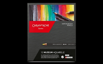 Picture of Caran Dache Museum Aquarelle Water Colour Pencil Set of 12