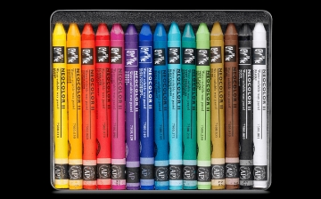 Picture of Caran Dache Neocolor Pastel-II  Set of 15 (Water - Soluable)