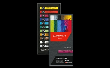 Picture of Caran Dache Neo Pastel Set of 12 (Oil Pastel)