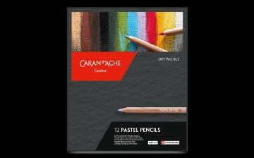 Picture of Caran Dache Artist Pastel Pencils Set of 12 (Dry Pastel)