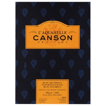 Picture of Canson L'Aquarelle Heritage Pad WC 300 gsm CP  23x31