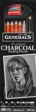 "Picture of General's ""The Original"" Charcoal Drawing Pencils 6 Assorted Degrees- Pack of 8"