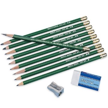 Picture of Generals Kimberly Graphite Drawing Pencil Kit - Pack of 12
